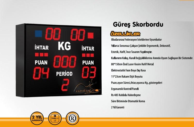 PN0088 - GÜREŞ SKORBORD