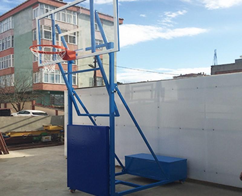 PN017 - Yükseklik Ayarlı Dört Direkli Basketbol Potası